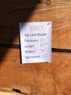 Maple Slab 57257 center