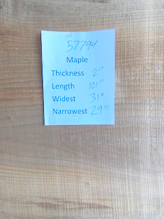 Maple Slab 57794 center