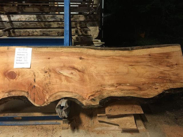 Cedar Slab 57315b
