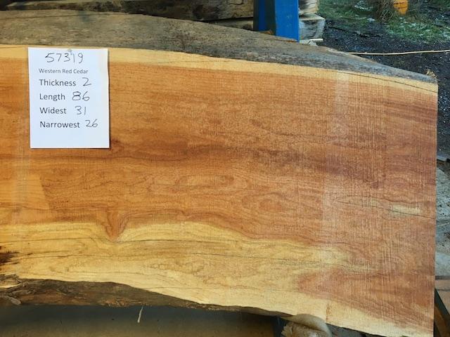 Cedar Slab 57319b