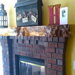 Rustic Edge Mantel