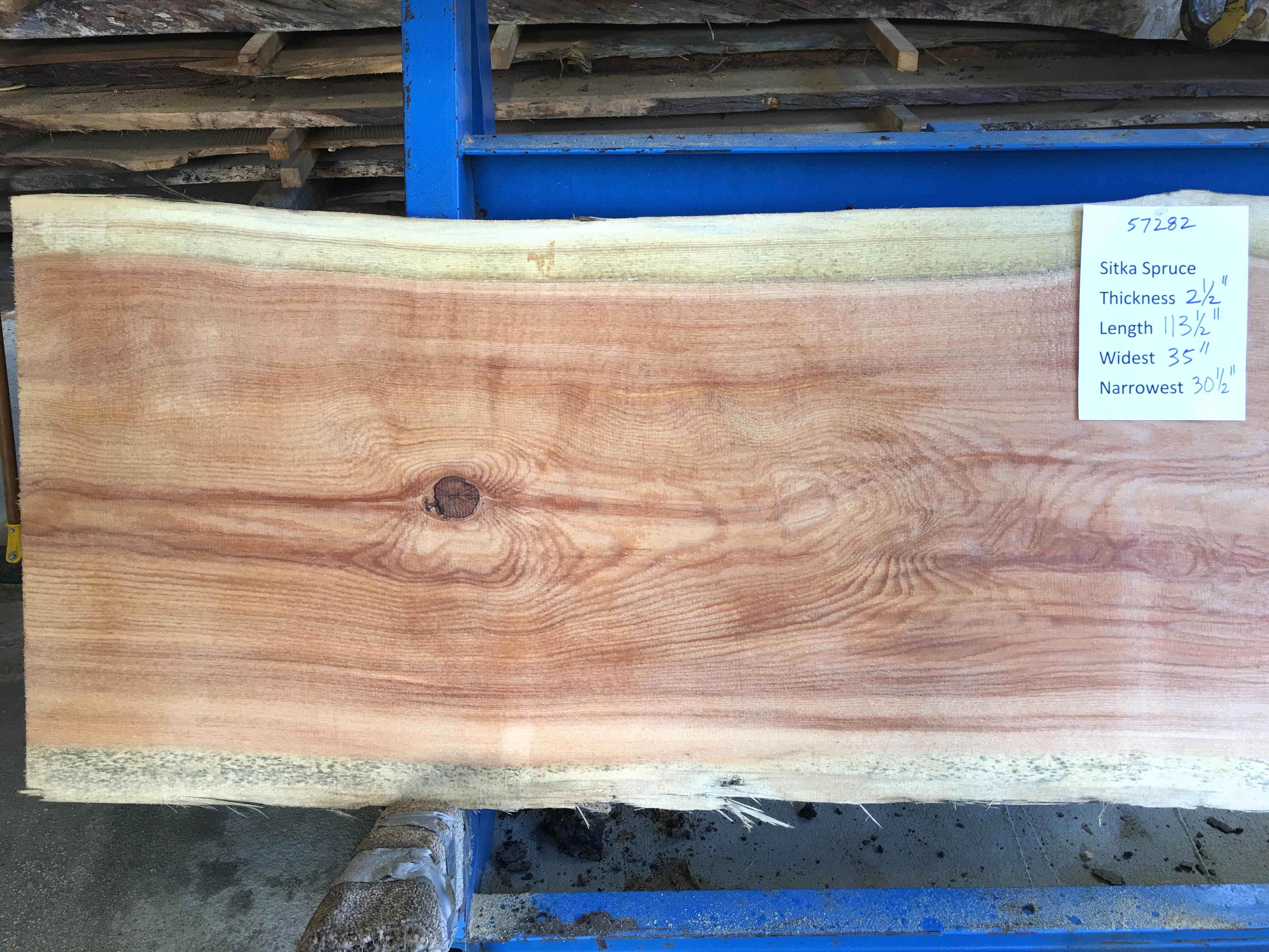 Spruce slab 57282a