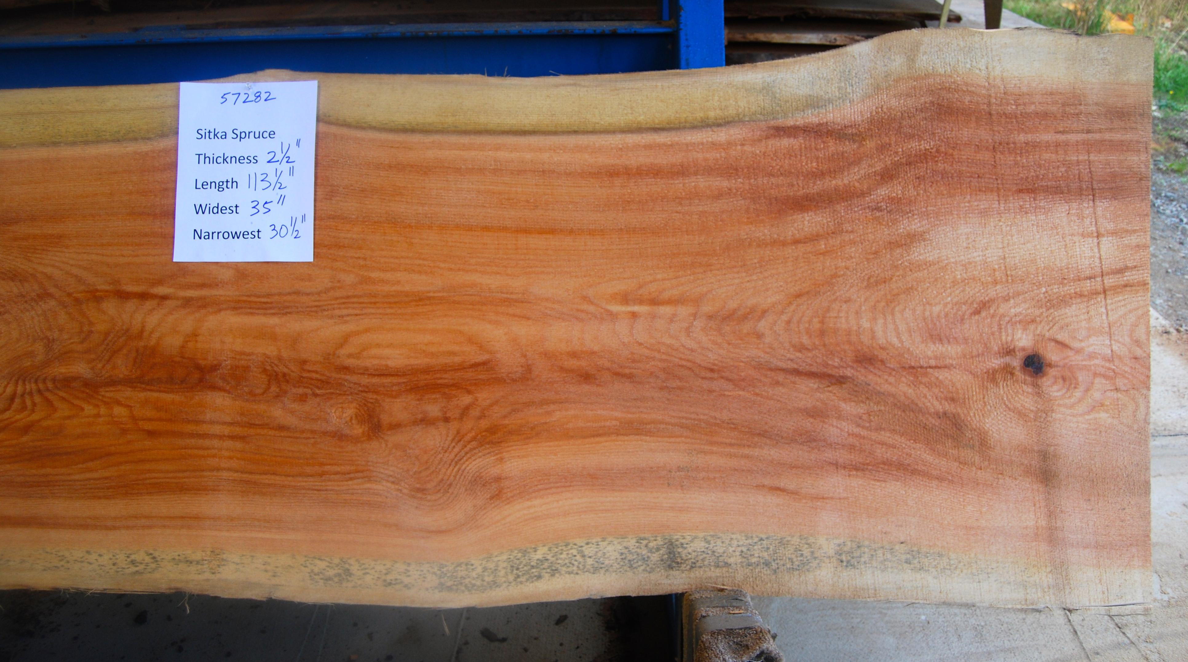 Spruce slab 57282b