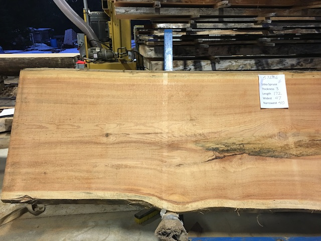 Spruce Slab 57286a