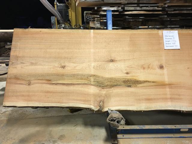 Spruce slab 57287a