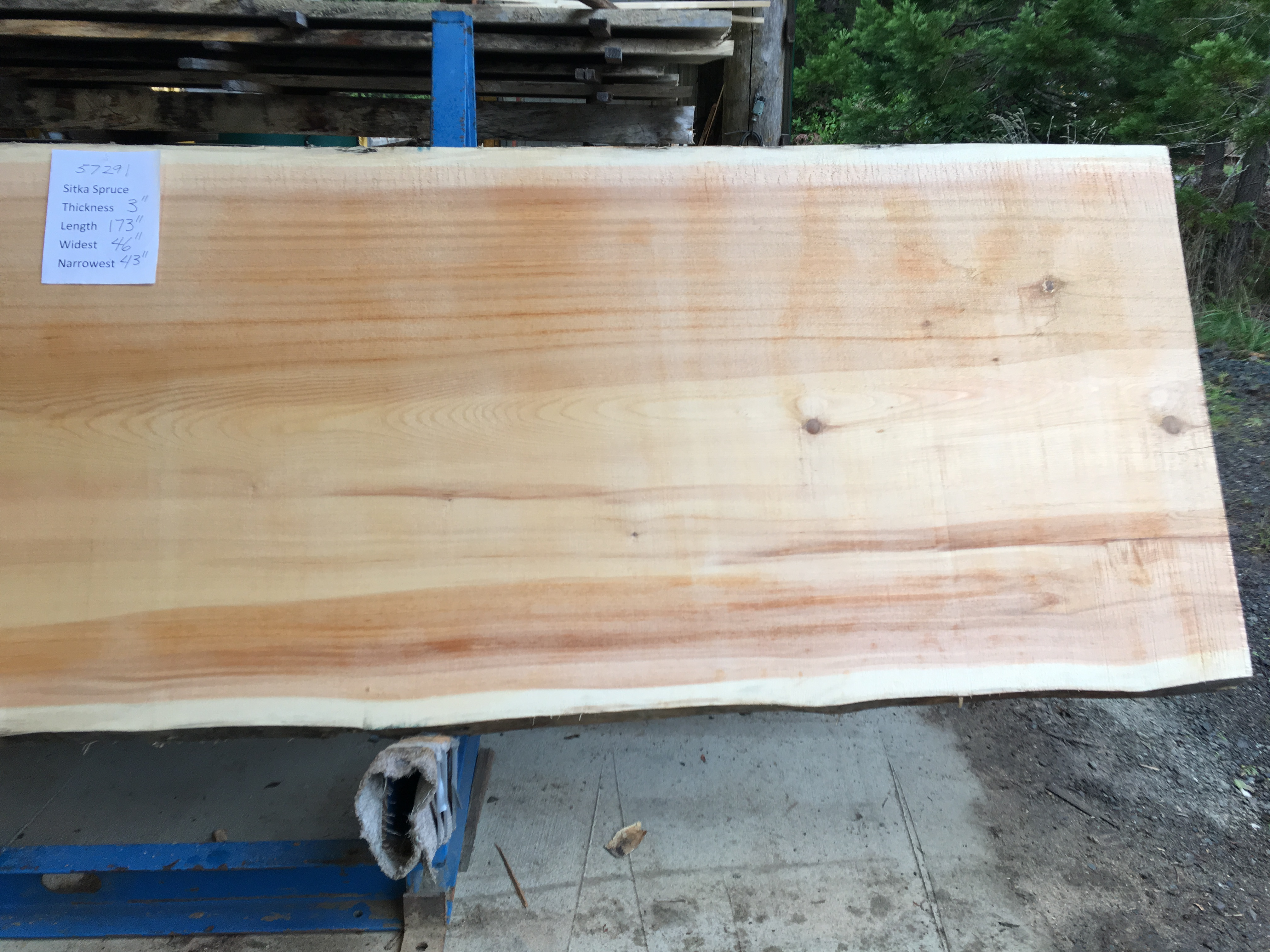 Spruce Slabs Natural Edge Or Live Edge Tables Slabs And